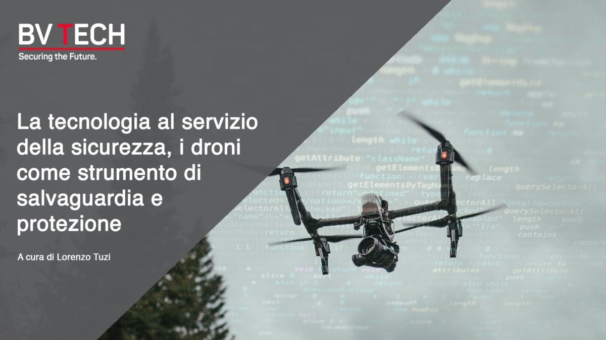 tecnologia droni AI intelligenza artificiale sicurezza
