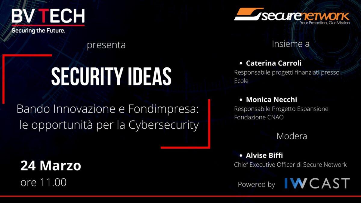 Webinar Security Ideas innovazione